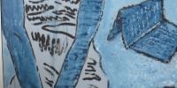 liseuse au bleu de la croisée